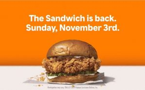 Popeyes Chicken Sandwich Returns Sunday, November 3rd