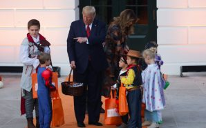 Children Participate in 'Build The Wall' Activity at White House…