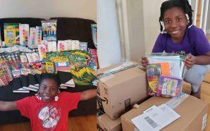 A 10-year-old girl has sent more than 1,500 art kits…