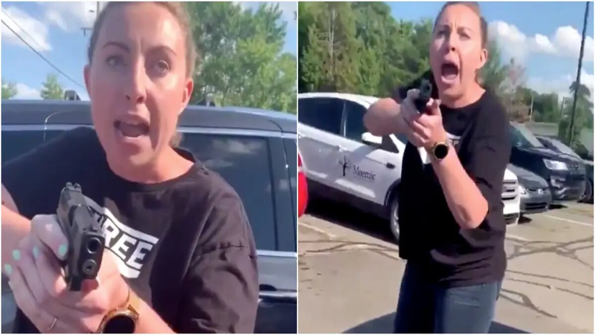 Video shows white woman pulling pistol on black mother, daughter in Michigan
