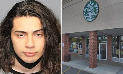 Kevin A. Trejo and the Starbucks where the incident occurred. (Credit: Park Ridge PD/Google Maps)