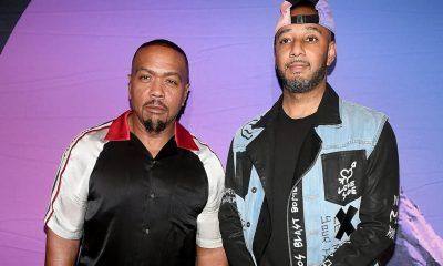 Swizz Beatz and Timbaland. (Paras Griffin/Getty Images)