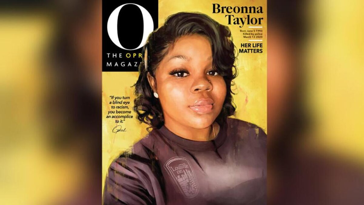 """Breonna Taylor's cover art of """"O, The Oprah Magazine"""" for the September issue. (Courtesy of O Magazine)"""