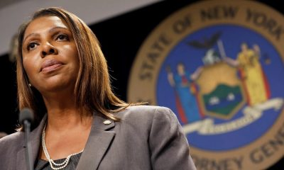New York State Attorney General Letitia James speaks at a news conference in New York, June 11, 2019. (Mike Segar/Reuters)