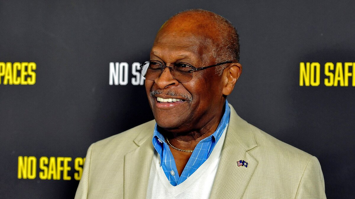 "Herman Cain attends the premiere of the film ""No Safe Spaces"" at TCL Chinese Theatre on Nov. 11, 2019 in Hollywood, California. (Image via Michael Tullberg/Getty Images)"