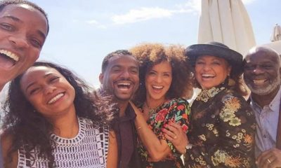 Selfie of the former Fresh Prince cast. (Will Smith/Facebook)