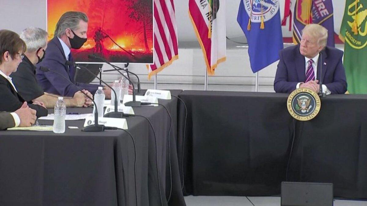 Screenshot from President Trump's briefing with California Gov. Gavin Newsom on Monday Sep. 14th, 2019.
