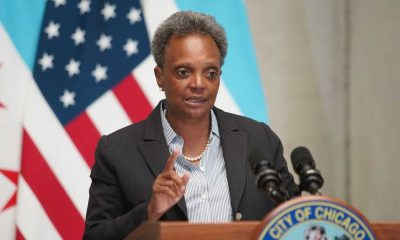 Mayor Lori Lightfoot outlined the city's grim financial picture Monday in a speech at the Chicago Cultural Center. (Ashlee Rezin Garcia/Chicago Sun-Times)