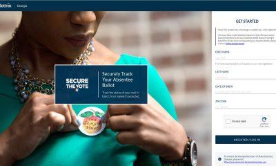 Screenshot of the BallotTrax website homepage.