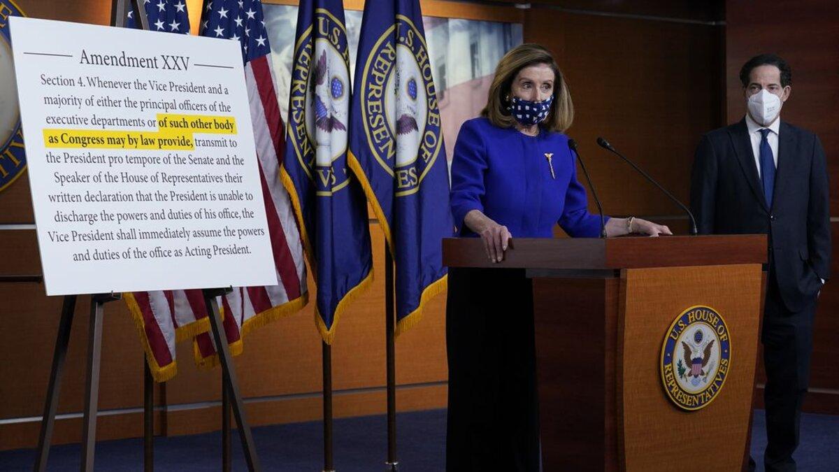House Speaker Nancy Pelosi and Rep. Jamie Raskin. (Image via J. Scott Applewhite/AJC)