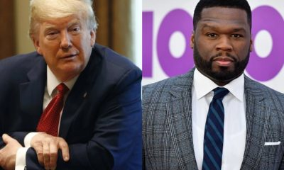 President Donald Trump and Rapper 50 cent. (Image via Getty/AP)